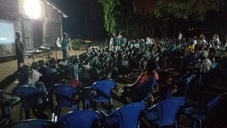 Вечер для детей двух лагерей и их родителей…