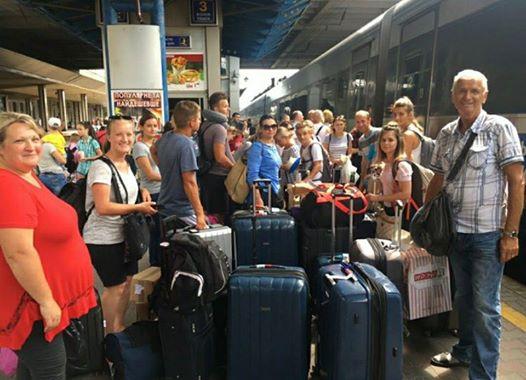 По прибытию в Киев мы с группой отправляемся на Восток…