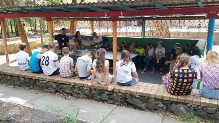 Урок по Библии. Третий день лагеря…