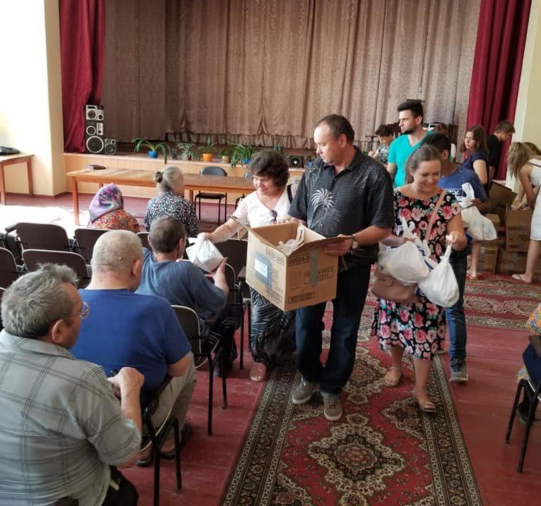 Посетили дом для стариков в Змиев Харьковской обл.